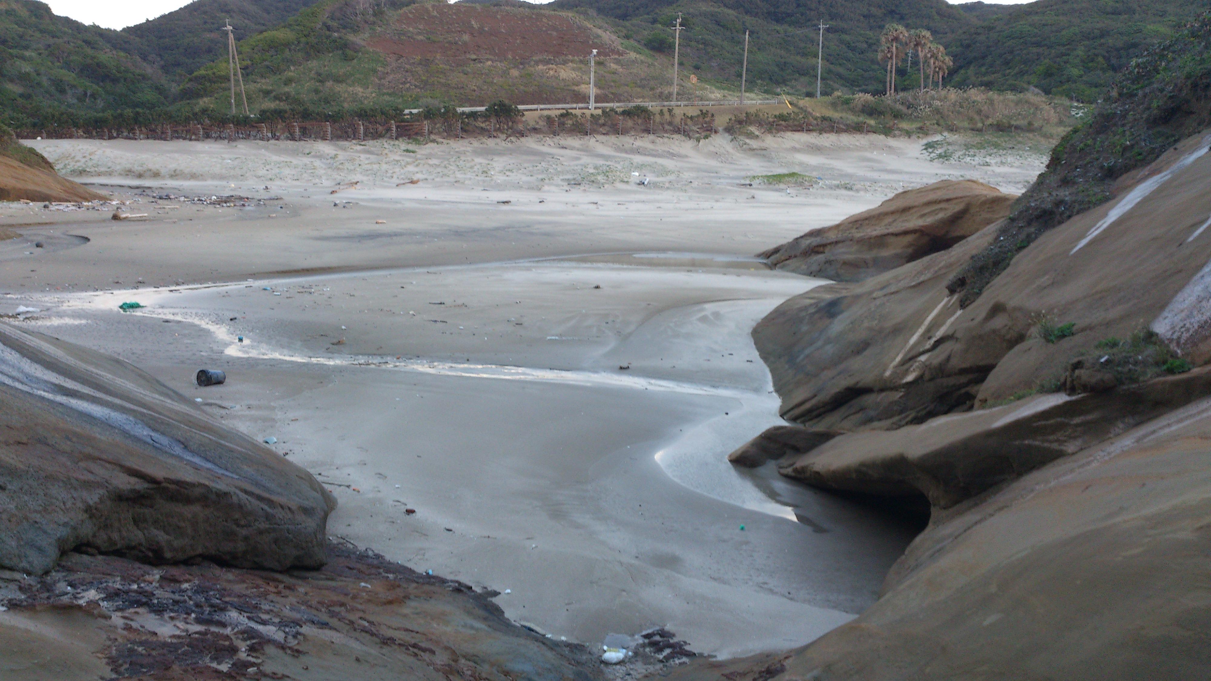 2012年12月。僕は種子島を一人で旅した:岩肌。初めてこういう岩肌を見た。