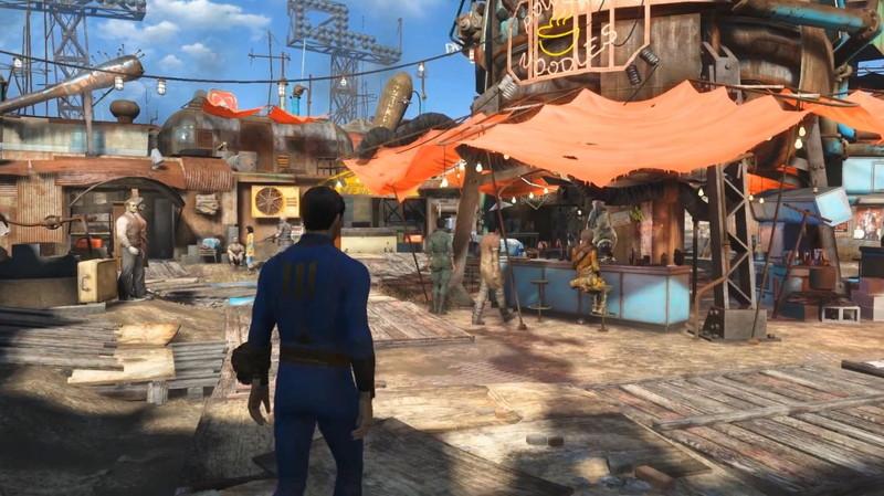 Fallout4に登場する「ダイヤモンドシティ」