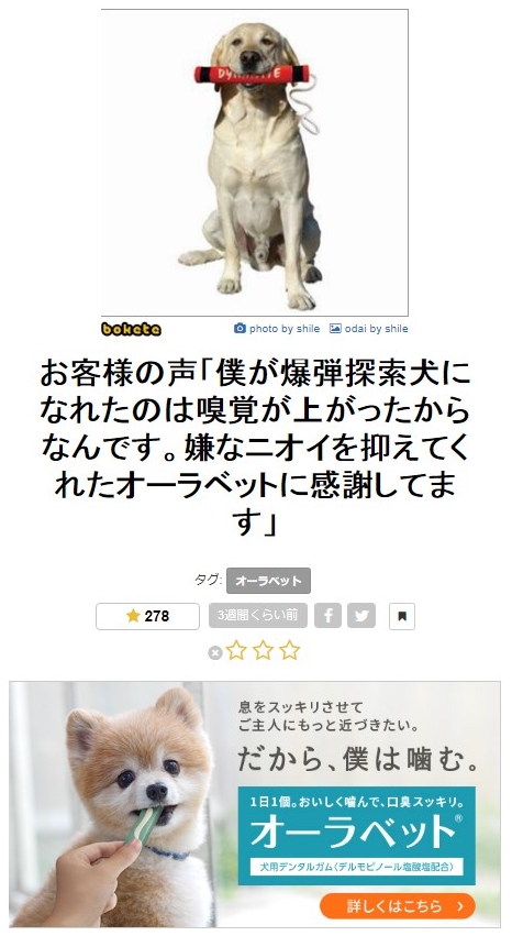 boketeの楽しみ方③広告バナーとの連動