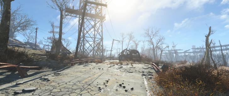 「Fallout4」で楽しめる、崩壊した街